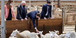Macron, SIA, salon de l'agriculture 2021, ferme d'Étaules