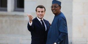 Idriss Déby, Macron
