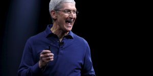 Le CEO d'Apple Time Cook en juin 2015