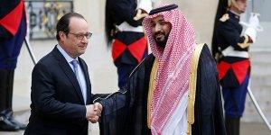 Le président François Hollande recevant le vice-prince héritier de l'Arabie saoudite, Mohamed Bin Salman, lundi 27 juin, au palais de l'Élysée.