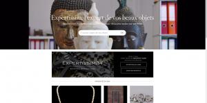 Capture d'écran de la page d'accueil du site Expertissim.com