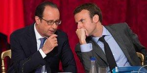 Hollande Macron
