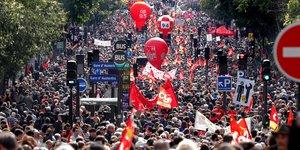 La cgt parvient a mobiliser contre la reforme du travail