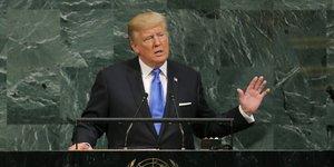 Onu: trump menace de detruire totalement la coree du nord