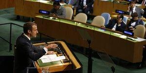 Macron a l'onu: l'accord de paris ne sera pas renegocie