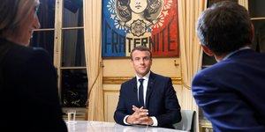 Macron, télévision, interview, entretien, président de la République, TF1, LCI,