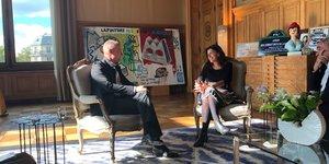 Rencontre entre Bertrand Piccard et Anne Hidalgo
