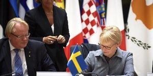 Peter Hultqvist ministre de la Défense suédois Europe de la Défense