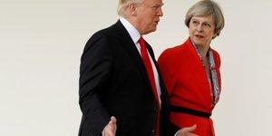 Trump s'est entretenu avec theresa may sur l'iran