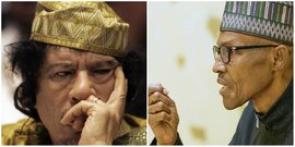 collage Buhari Kadhafi Kaddafi
