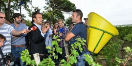Emmanuel Macron à Léognan avec les réformateurs