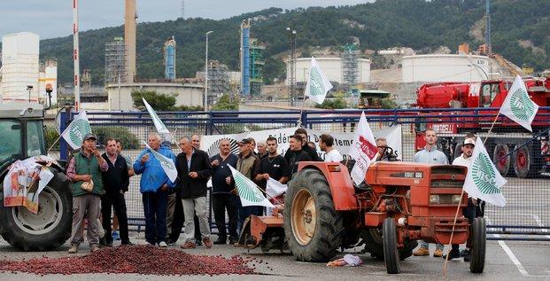 Manifestation de la FNSEA à Fos-sur-Mer