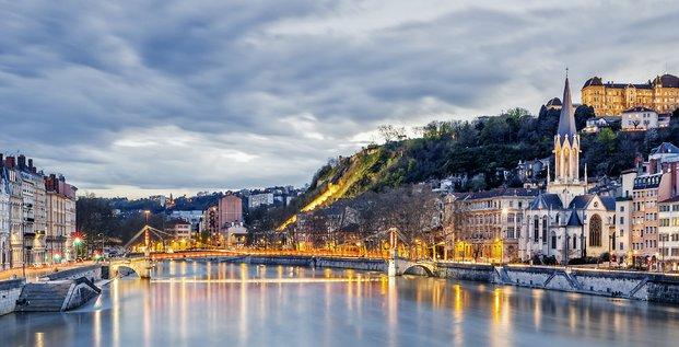 Lyon, Saône, région Auvergne-Rhône-Alpes,