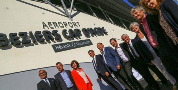 L'ensemble des partenaires de l'aéroport dévoilent sa nouvelle dénomination