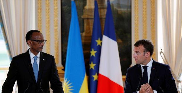 Paul Kagame kagamé Macron France Rwanda