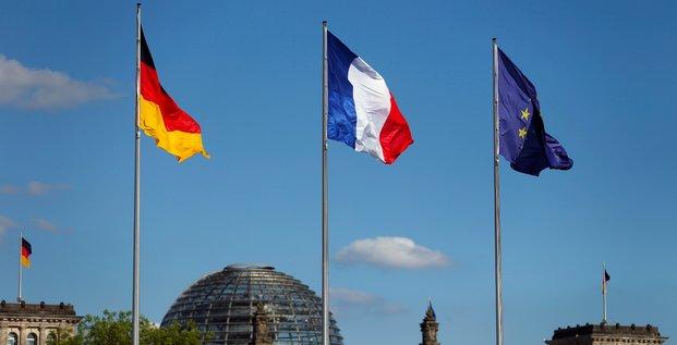 Drapeau, France, Allemagne, UE