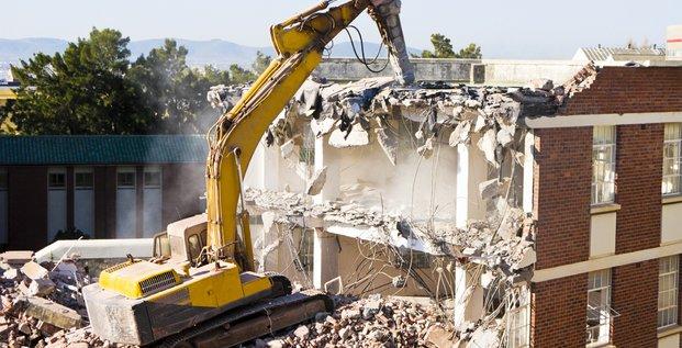 bâtiment, chantier, construction