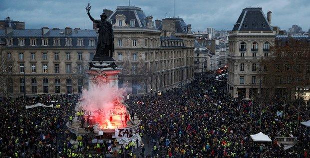 gilets jaunes: 1.723 personnes interpellees samedi en france
