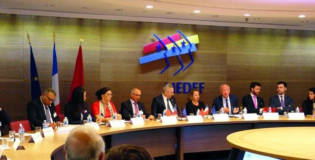 Medef France réunion Maroc Afrique