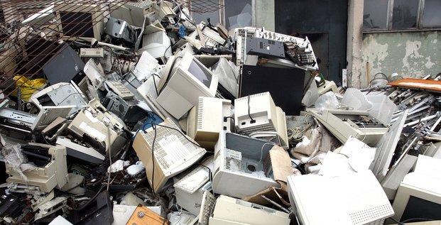 ordinateurs, numérique, déchets