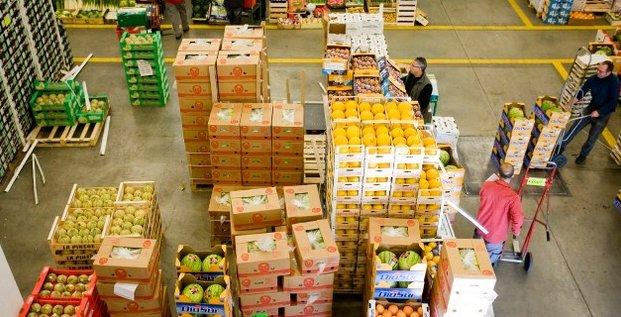 Marché gros Lyon fruits légumes commerce