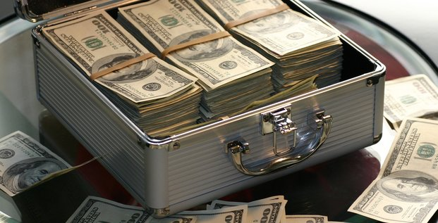 argent dollars valise richesse fortune devise