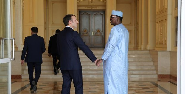 Emmanuel Macron tchad njamena idriss déby deby