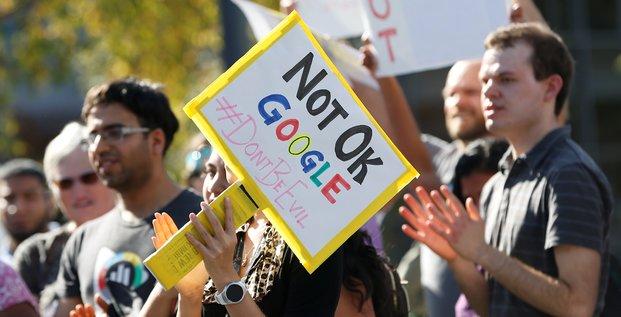 Manifestation au siege social de google