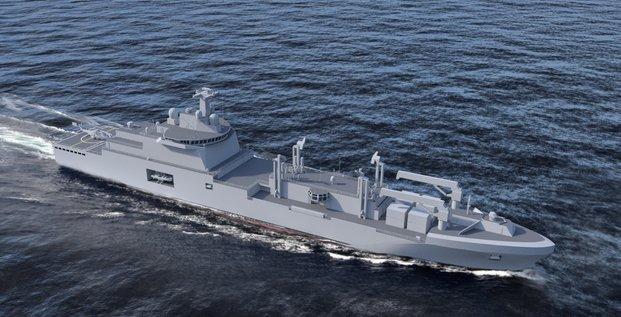 FrotLog pétrolier ravitailleur Chantiers de l'Atlantique Naval Group Fincantieri