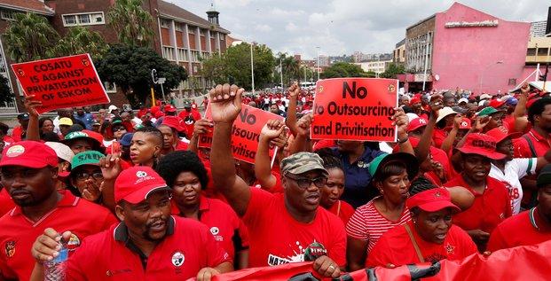 Afrique du Sud manifestations Cosatu Eskom privatisation durban