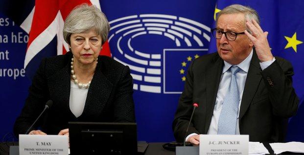 May, Juncker, Brexit,