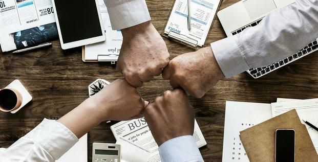 équipe de travail, bureau, management
