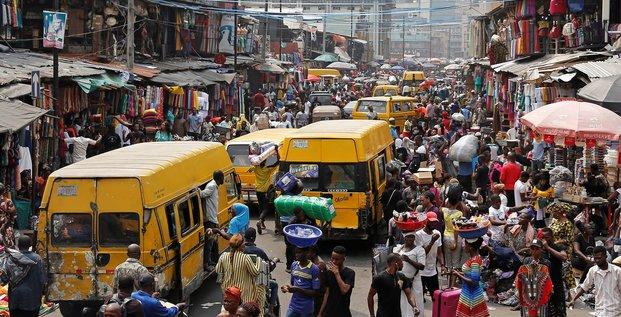 Nigeria Nigéria Lagos population démographie foule commerce trafic routes circulation Afrique