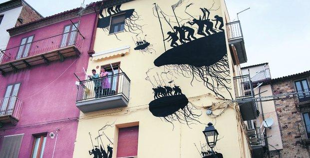 Façade d'immeuble à Saint-Nazaire