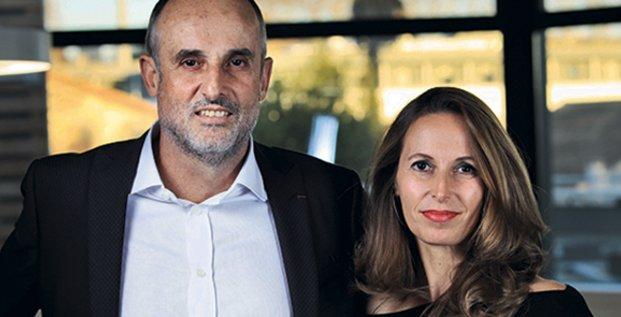 Arnaud Mine et Stéphanie Andrieu, fondateurs et dirigeants de Urbasolar, à Montpellier