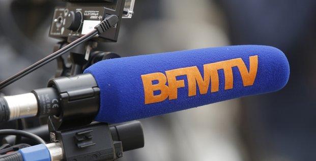BFM-TV, BFMTV, télévision, médias, micro