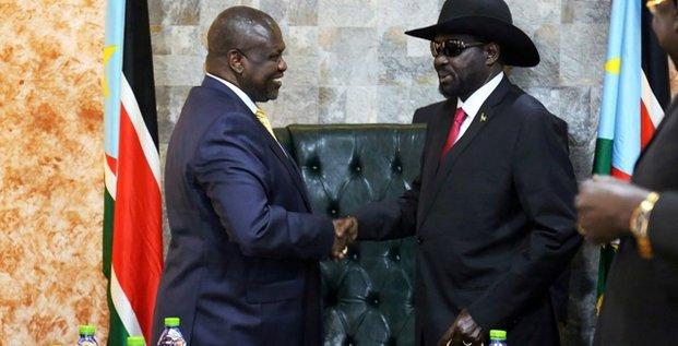 Salva Kiir et Riek Machar