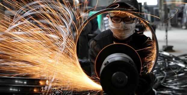 Chine, usine, manufacture, articles, sport, roue de bicyclette, croissance