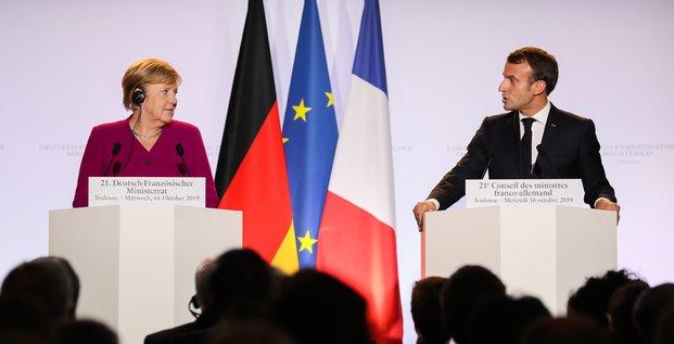 Macron et Merkel à Airbus