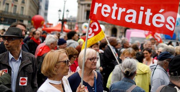Illustration manifestation retraites réforme