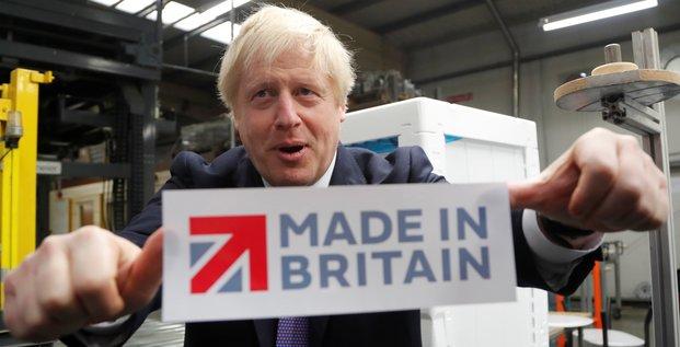 Le premier ministre Boris Johnson, dans le cadre d'une campagne pour les élections législatives britanniques