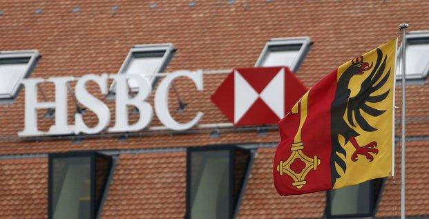 Genève (Suisse). Branche suisse de la banque HSBC