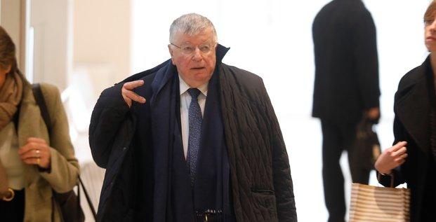 Didier Lombard, ex-PDG de France Télécom, à son arrivée au procès, le 6 mai 2019.
