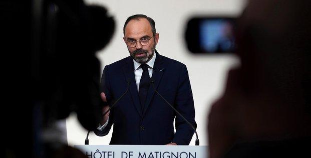 Réforme des retraites : discours d'Edouard Philippe à Matignon, après une rencontre avec les syndicats à Paris, le jeudi 19 décembre 2019