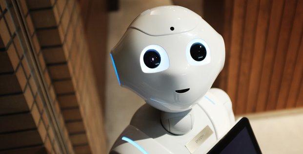 Illustration robot humanoïde tech robotique intelligence artificielle