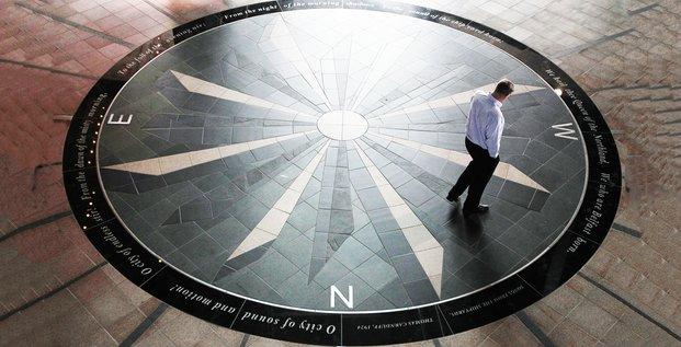 boussole, pavement, hall, compas, motif, ship, bateau, marine, mosaique, Titanic Belfast building,