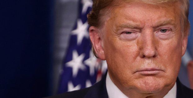 Donald Trump, durant le brief quotidien à propos du coronavirus, à la Maison Blanche, le 9 mars 2020