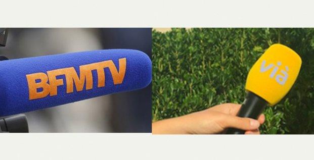 Rapprochement en cours entre BFM TV et le réseau Vià de chaines de télévision locales