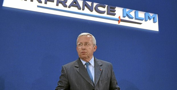 Europe's biggest airline Air France-KLM group CEO Pierre-Henri Gourgeon gives a press conference to announce the company results, on May 19, 2009, in Paris. Air France-KLM announced a loss of 814 million euros (1.1 billion dollars) for the 2008-2009 fiscal year, its first since the 2003 merger, and