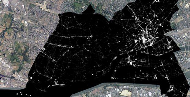La Telescop (télédétection spatiale) a cartographié la ville de Nantes pour mesurer la pollution lumineuse urbaine